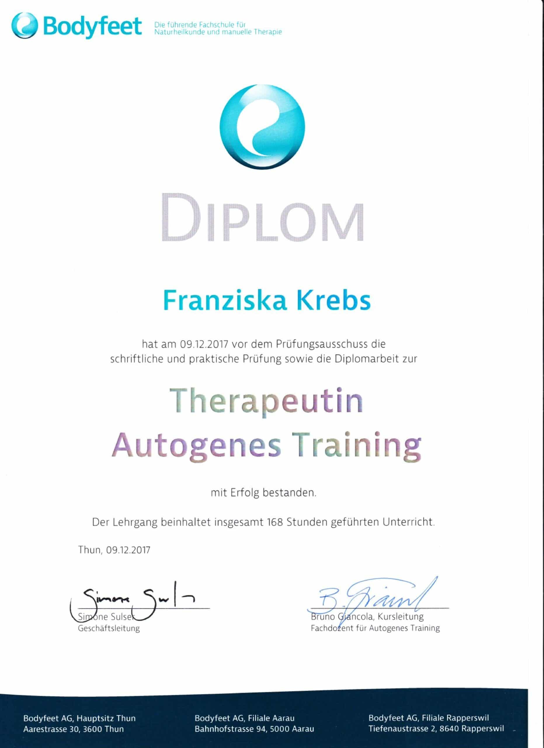 Diplom Autogenes Training