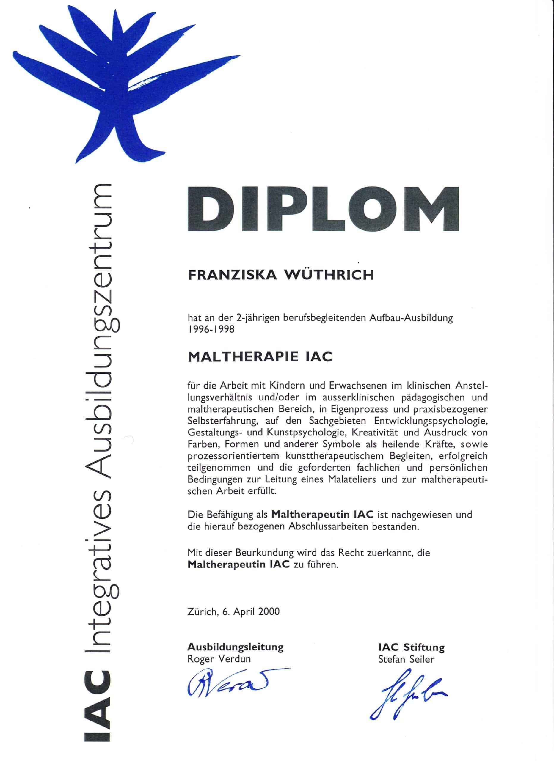 Diplom Malterhapie